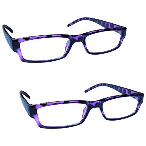 The Reading Glasses Company Gafas De Lectura Púrpura De La Concha Ligero Cómodo Lectores Valor Pack 2 Hombres Mujeres Rr32-5 +1,50 2 Unidades 58 G
