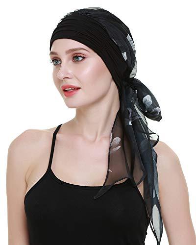 Chemo Caps for Women Light Weight Cancer Scarf Feminine Head Cover for Long Hair Girls