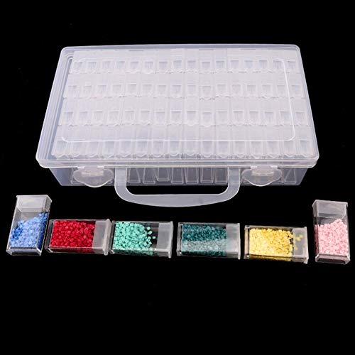 Diamant Broderie Diamant Outil de peinture, 64 en treillis, Transparent Boîte de Rangement en plastique, 64 Grille Foret de bijoux boîte de rangement