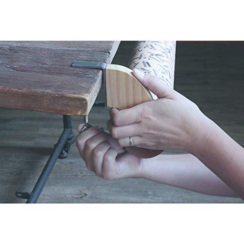 Clairefontaine 200609C Verstellbarer Papierabroller für Geschenkpapier (ideal für Fachhändler, 12 x 11 cm, für alle Rollenbreite geeignet, praktisch und robust) 1 Stück naturbraun