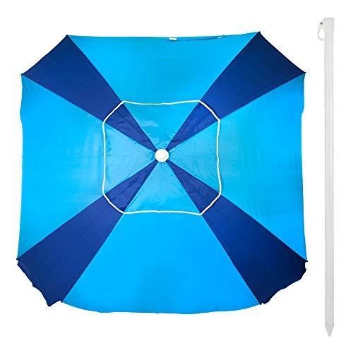 Aktive 62107 - Ombrellone Quadrato 164x164 cm Protezione UV50 Beach - Blu