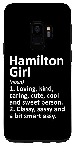 Galaxy S9 HAMILTON GIRL OH OHIO Funny City Home Roots Gift Case