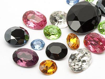 Pierres de gemme de Optima Ovale 8-17mm (Color Multi Size Mix), 30 Pièces