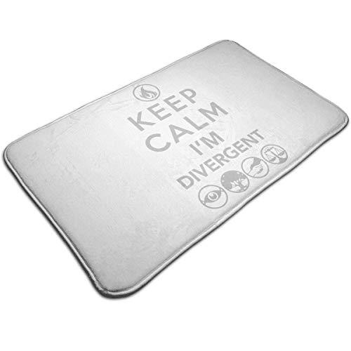 TEIJWETEIJT Keep Calm I'm Divergent - Felpudo antideslizante