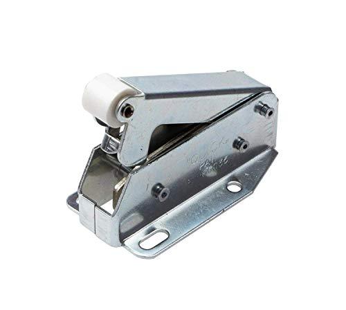 Gedotec Federschnapper MINI-QUICK Automatik Druckverschluß Türverschluss Möbel-Schnäpper | Stahl vernickelt | Federschnapp-Verschluss zum Schrauben | 1 Stück - Druck-Öffner für Schubladen & Schränke