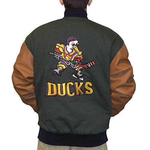 MyPartyShirt Gordon Bombay Chaqueta Mighty Patos pelcula Varsity Letterman Hockey Disfraz aos 90
