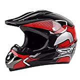 CZLWZZD Helm Motocross Cross-Market Motorrad, Handschuhe Und Brille Kinder Quad Bike ATV Karting D.O.T Standard (52-59cm)