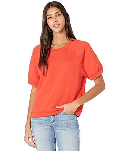 Madewell Short-Sleeve Sweatshirt Ripe Persimmon 2XS (Women's 000)