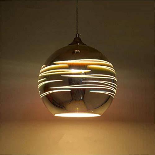 WHL hanglampen Moderne 3D gekleurde glazen bol hanglamp restaurant slaapkamer kroonluchter Nordic Cafe bar hanglamp enkele koplamp