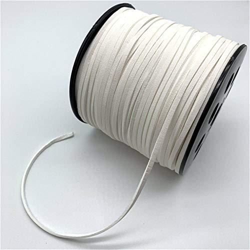 5 yardas 3mm Cordón trenzado de cuero Pulsera de abalorios hechos a mano de cuero de terciopelo coreano para hacer joyas Decoración de ropa de bricolaje, 22
