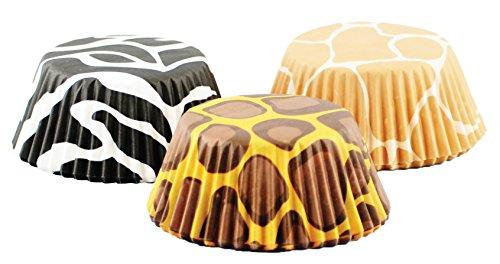 Fox Run Bake Cup Set, 3 x 3 x 1.25 inches, Animal Prints Mixed,6893,75