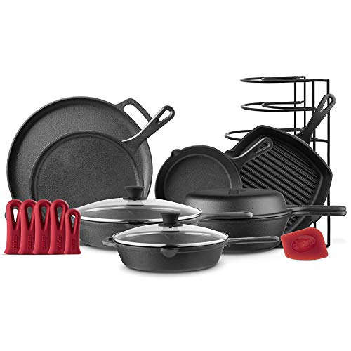 11pcs Cast Iron Cookware