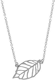Best silver leaf necklace Reviews