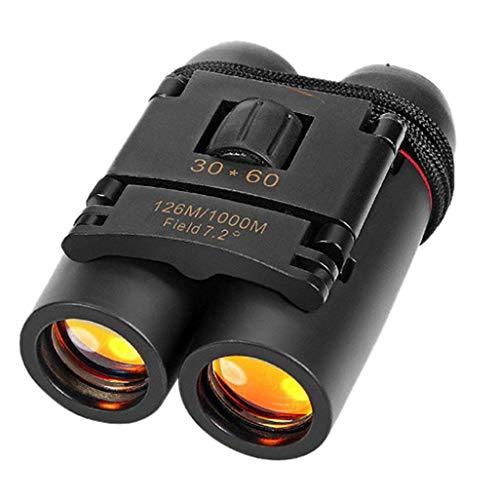 30 x 60 Zoom Binoculars Lightweight for Concert Theater Opera Folding Binoculars for Adults Travel Hiking Bird Watching with Telescope Bag