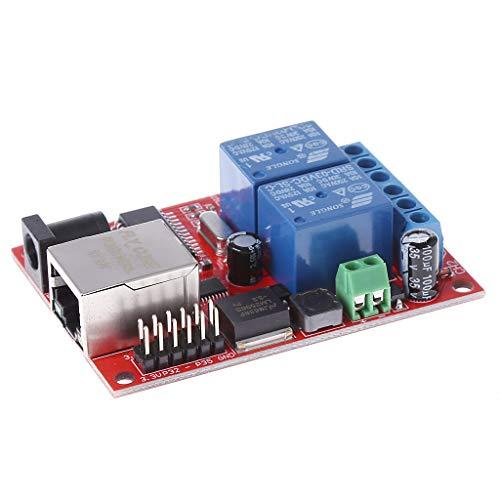 siwetg LAN Eernet 2-Wege-Relais Board Delay Switch TCP UDP Controller Modul WEB Server WeChat Cloud Ote Control 2 Eernet Relay TCPUDP Modul Controller