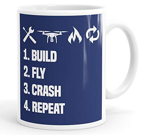 Tamengi Drone bouwen vliegen crash herhaal grappige koffie mok thee Cup