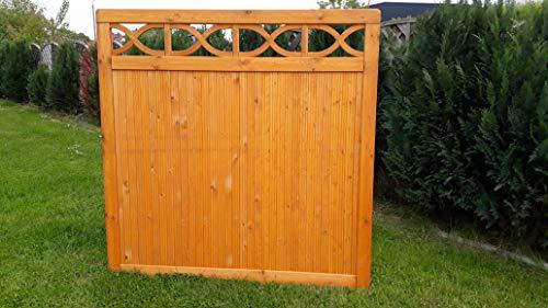 naturholz-shop Dichtzaun Sichtschutz Kiefer druckimprägniert braun Zaun Garten Holz Bereits Lasiert
