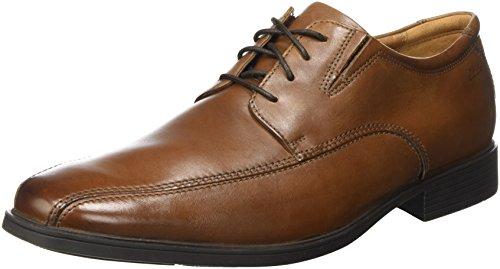 Clarks Men's Tilden Walk Derbys, Braun (Dark Tan Leather), 44 EU
