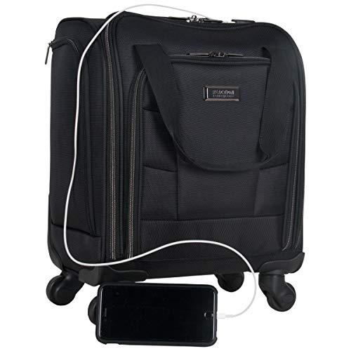 Kenneth Cole Reaction 18' Lightweight Multi-Pocket Anti-Theft RFID 14.1' Laptop & Tablet Underseater Carry-On With USB Charging Port, Navy, One Size