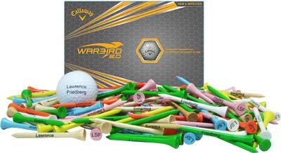 Callaway Warbird 2.0, 1 Dozen + 100 3 1 4  Imprinted Golf Tees Set