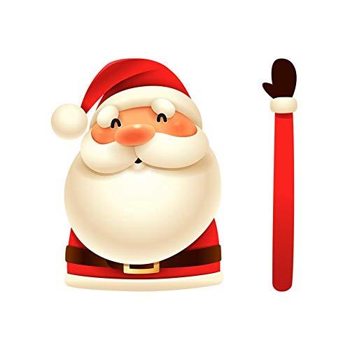 Ruitenwisser-sticker voor achterruit, kerstman / sneeuwman, schudden van de ruitenwisserarm, zelfklevend, stijl E
