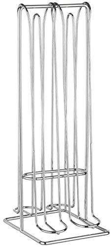 TIENDA EURASIA® Dispensador de Cápsulas Nespresso - 32-48 Cápsulas - Fabricado en Acero Inoxidable (32 Cápsulas - L. 10 x P. 12,5 x H. 29,5 cm)