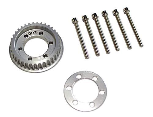 DIYE 36 Zähne 10 mm breiter Antrieb Schwungrad Riemenscheibe Kit Teile für 83 mm/90 mm/97 mm/100 mm Räder 5 mm Zähne Elektrisches Skateboard