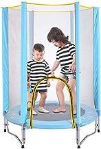 Trampoline met behuizing net, indoor kinderen mini fitness trampoline oefening trampoline rebounder rustig en veilig stuit...