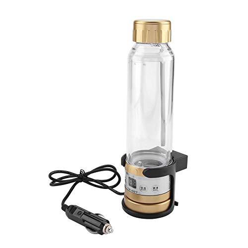 280ml Bouteille Electrique Isotherme Tasse Chauffante de Voiture Tasse de Voyage Distributeur d'Eau Chaude pour Chauffeur de Bus(Golden)