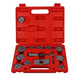Gizayen Professional Disc Brake Caliper Wind Back Tool Kit, 13 PCS/Set Disc Brake Caliper Wind Back Tool Kit for Car Vehicle Repairing