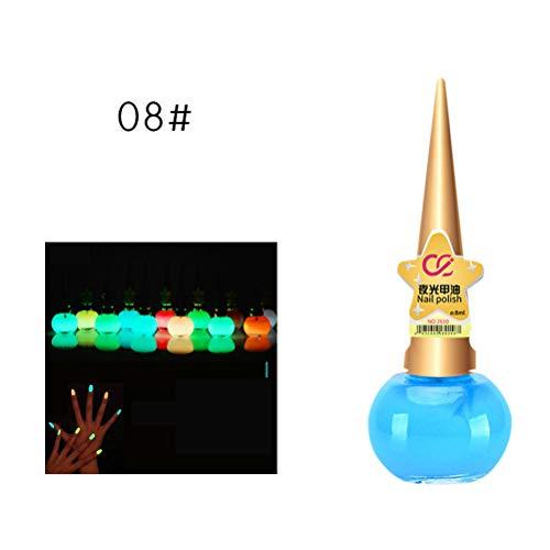 Daxoon Leuchtender Nagellack 14ml Luminous Gel Nagellack Nail Art Werkzeug für Glow in Dark