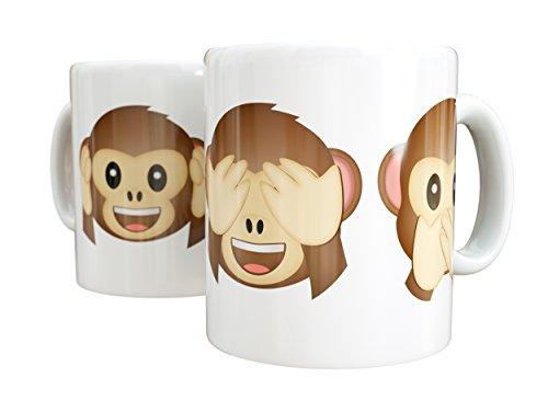Mug Emoticonos Monkeys