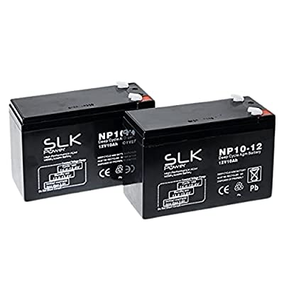 SLK Power Mobility Scooter AGM Battery Pair of 2. Supreme And Performance, Reliable And long Lasting Replacement Batteries For Electric Scooters And Wheelchairs