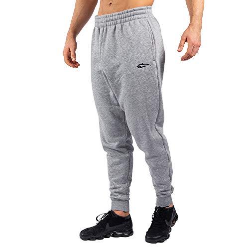 SMILODOX Herren Jogginghose Low Crotch | Trainingshose für Sport Fitness Gym Training | Sporthose - Jogger Pants - Sweatpants Hosen - Freizeithose, Größe:XXXXL, Farbe:Grau