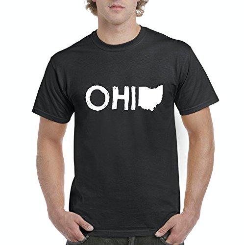 Ugo Ohio Map OH Ohio Cincinnati Map Bearcats Buckeyes Home of Ohio State University Men's T-Shirt Tee