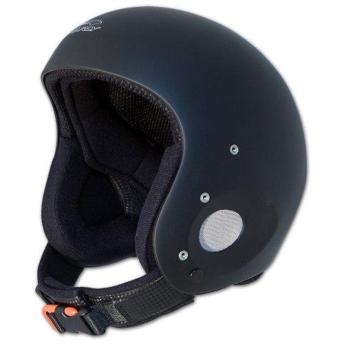 Charly Ace, Gleitschirm- und Skihelm, aufrüstbar mit Visier und Kinnschutz, matt schwarz, Größe XL