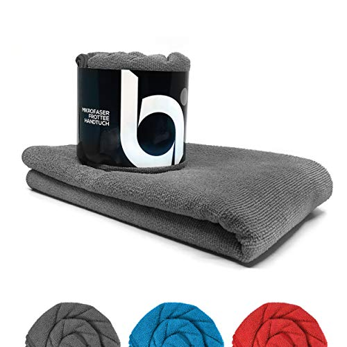 baenger ® Mikrofaser Handtuch mit Frottee Struktur I Antibakterielle Microfaser Handtücher schnelltrocknend I Saugfähiges Badetuch, Reisehandtuch, Sport | L (200x100cm)