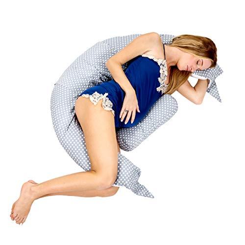 Koala Babycare® Cuscino Maternitàper Dormire e Cuscino Allattamento con Supporto Lombare, Cervicale e Pancia Cuscino Premaman con di Lacci di Sicurezza, Culla, Riduttore Lettino KHugs PLUS