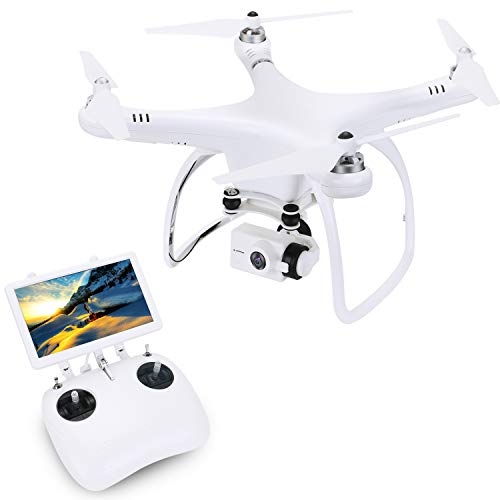 UPAIR One Drone with 2.7K HD Camera, RC Quadcopter with 7 inch FPV Video Monitor, GPS Positioning One Key Return, Altitude Hold, Headless Mode for Beginners