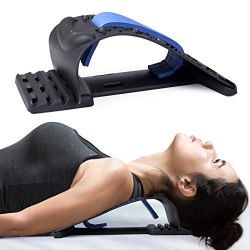 Neck Stretcher for Neck Pain Relief, Upper Back and Shoulder Relaxer for Muscle Relax and Spine Alignment, Cervical Traction Device Adjustable 4 Level