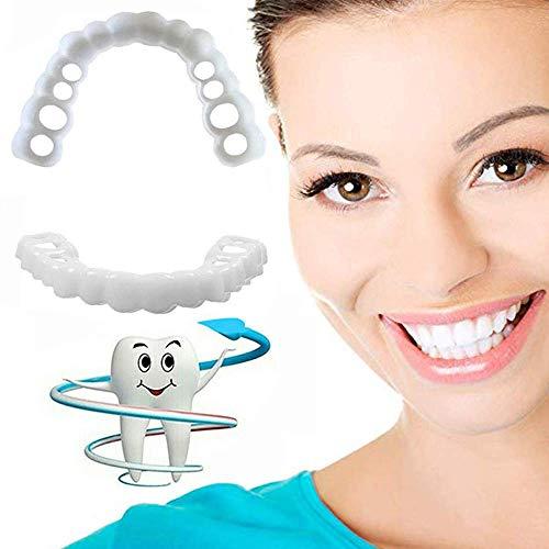 CYAN ZäHne Veneers Zahnprothese Extra DüNn Comfort Fit Perfect Smile Sicherer Provisorischer Zahnersatz Ober Und Unterkiefer FüR SchöNe