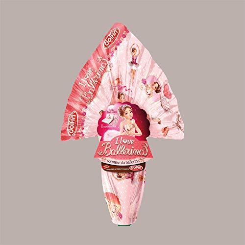 Lucgel Srl Uovo di Cioccolato al Latte Finissimo con Sorpresa I LOVE BALLERINA 220 gr Pasqua Regalo