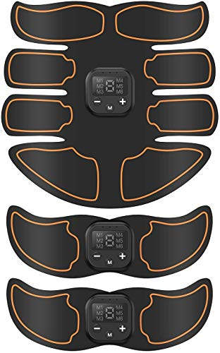 SUNGYIN Abs Stimulator Muscle Trainer Ultimate Abs Stimulator Ab Stimulator for Men Women,Work Out Power Fitness ABS Abdominal Trainer with 6 Modes & 9 Levels Operation