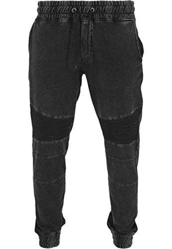 Urban Classics Hose Acid Washed Sweatparka Pantalon de Sport Homme, Noir (Schwarz), (Taille Fabricant: Large)