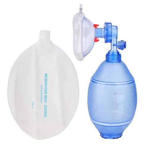 Timagebreze Manueller Beatmungs Beutel für Erwachsene Sauerstoff Beutel Erste Hilfe Kit Werkzeug Einfaches Atemballon Ger?T für Erste Hilfe Sauerstoff Ger?T