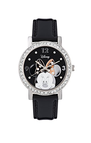 Minnie Maus MN1149 Damen-Armbanduhr, Analog, Quarz, mit Polyurethan-Armband
