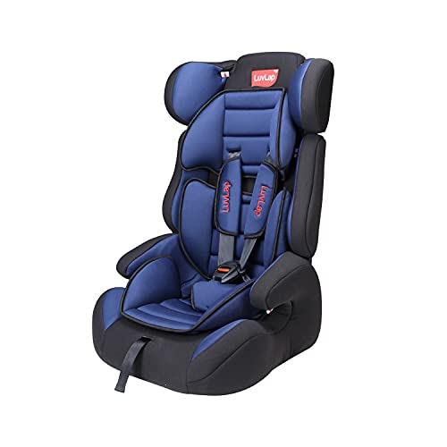 LuvLap Comfy Car Seat for Baby & Kids from 9 Months to 12 Years (Blue)