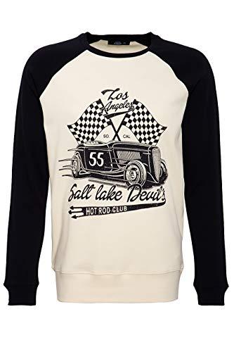 King Kérosène manches longues worker chemise-Greaser car club