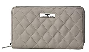 Urban Forest Grace Quilted Beige Leather Wallet/Clutch for Women