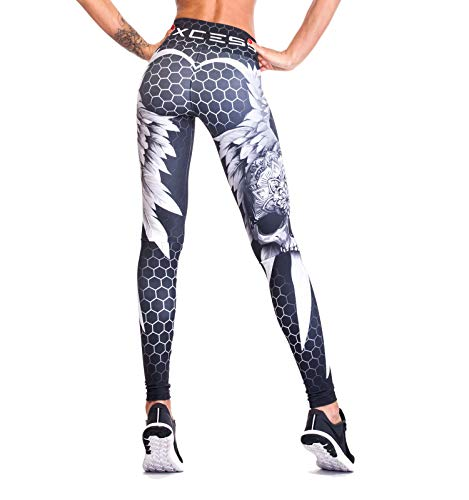 Excess Leggins Mujer Fitness Yoga Mallas Deportivo Pilates Running Gimnasio Maillot de Ciclismo Mochila Portatil de Regalos 3D Italiano push up de Fiesta Mujer Sexy Аlas Gris XS